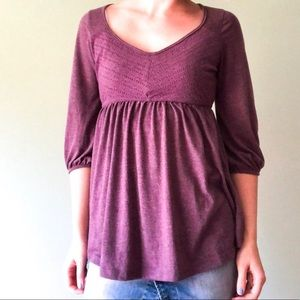 Anthropologie Puella Purple Flowy Blouse Sz Medium